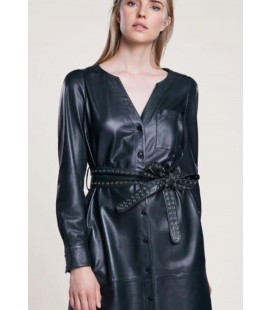 LEATHER DRESS SET-FASHION
