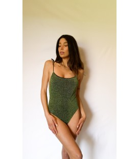 GREEN LUREX SWIMSUIT NUDE