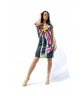 REVERSIBLE GARDEN DRESS ANIMAPOP