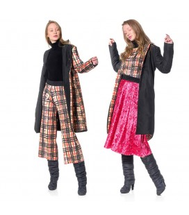 CAPPOTTO REVERSIBILE POP TARTAN ANIMAPOP
